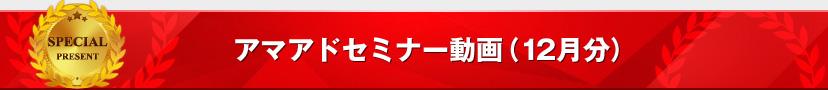 アマアドセミナー動画(12月分)